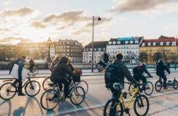Tour de France route by bike in Copenhagen