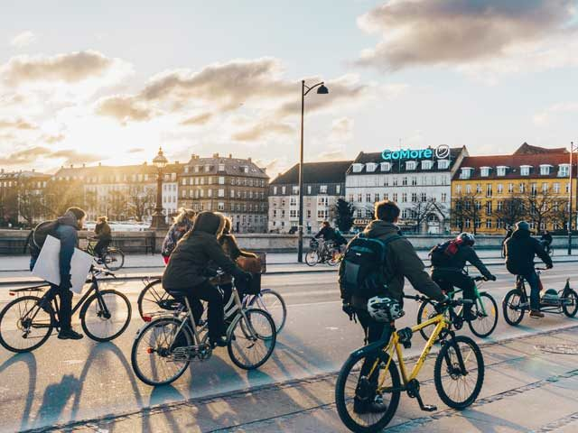 Tour de France route by bike in Copenhagen